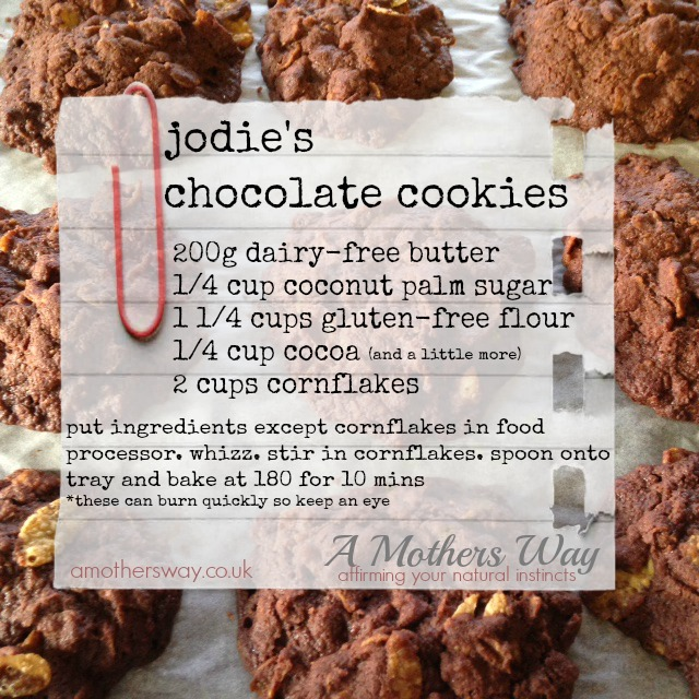 Cocolate cookies, chocolate, cookies, healthy treats, refined sugar free, low gi, gluten free, jodie stacey